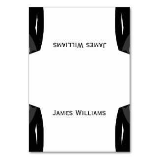 Black And White Gay Wedding Place Setting Cards Table Cards