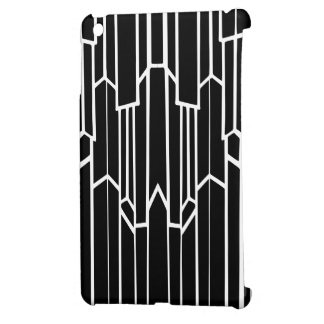 Black and White Geo Cascade Case For The iPad Mini