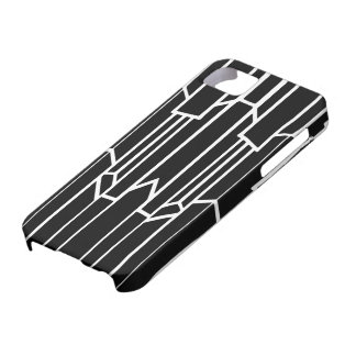 Black and White Geo Cascade iPhone 5 Cover