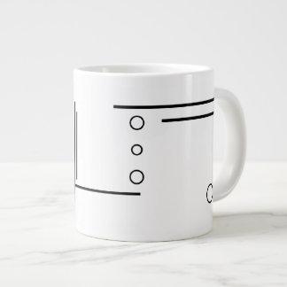 Black and White Geometric Abstract Jumbo Mug