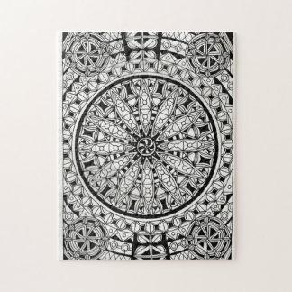 Black and White Geometric Design Puzzles