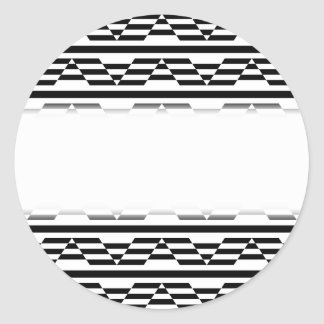 Black and White Geometric Graphic Pattern. Stickers