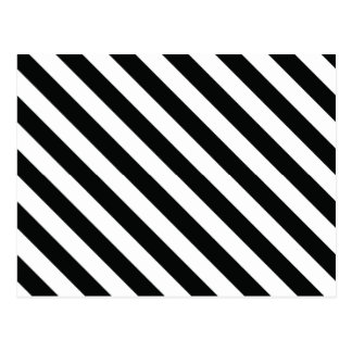 Black and White Geometric Line Pattern Postcard