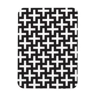 Black and White Geometric Magnet