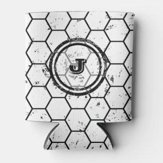 Black and white geometric monogram