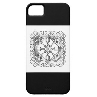 black and white geometric mosaic iPhone 5 cases