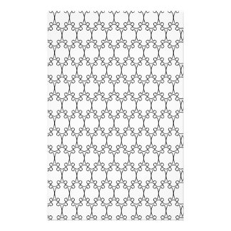 Black and White Geometric Pattern 2 Stationery Design