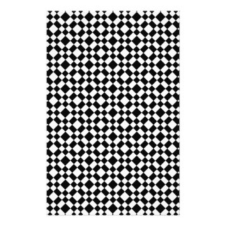 Black and White Geometric Pattern Background Stationery Design