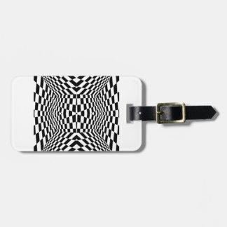 Black and White Geometric Pattern Luggage Tag