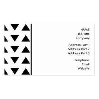 Black and White Geometric Pattern of Triangles. Pack Of Standard Business Cards