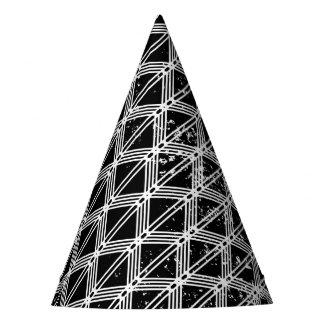 Black And White Geometric Pattern Party Hat