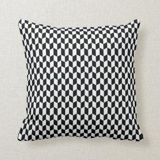 Black and White Geometric Pattern Pillow