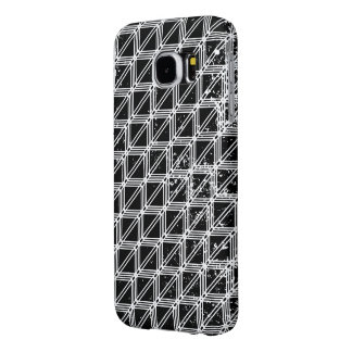 Black And White Geometric Pattern Samsung Galaxy S6 Cases