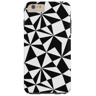 Black And White Geometric Random Triangles Tough iPhone 6 Plus Case