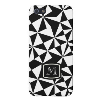 Black And White Geometric Random Triangles iPhone 5/5S Cover