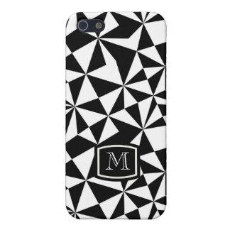 Black And White Geometric Random Triangles iPhone 5/5S Cover