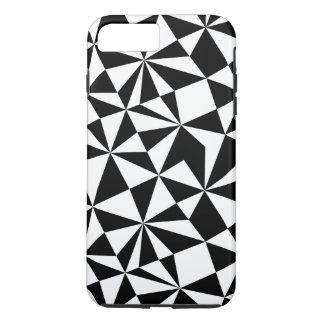Black And White Geometric Random Triangles iPhone 7 Plus Case