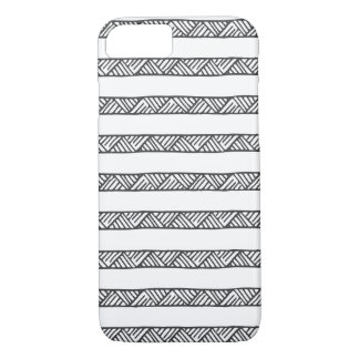 Black and White Geometric Stripes iPhone 7 Case