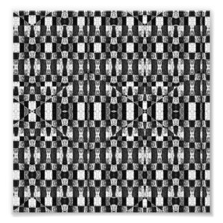 Black and White Geometric Tribal Pattern| Photo Print
