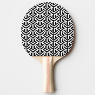 black and white geometrical modern pattern ping pong paddle
