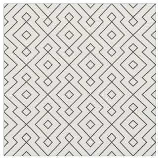 black and white geometrical pattern modern print fabric