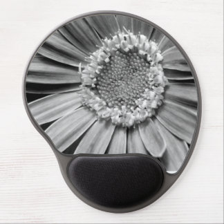 Black and White Gerber Daisy Unadilla, NY Gel Mouse Pads