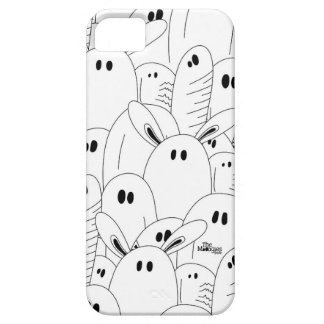 Black and white ghost iPhone 5 cover
