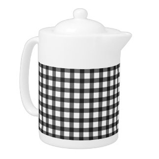 Black And White Gingham Check Pattern