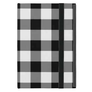 Black and White Gingham Pattern iPad Mini Case
