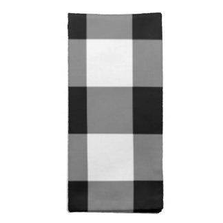 Black and White Gingham Pattern Napkin