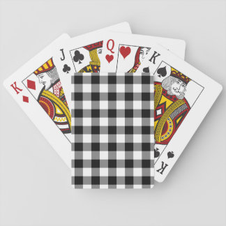 Black and White Gingham Pattern Playing Cards