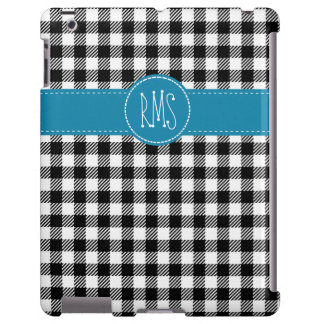 Black and White Gingham with Blue Accents