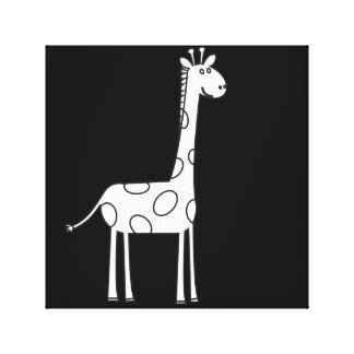 Black and White Giraffa artistic canvas print