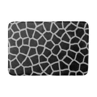 Black and White Giraffe Print Bath Mats