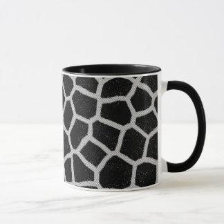 Black and White Giraffe Print Mug
