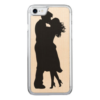 Black and White Girlfriend and BoyfFriend Carved iPhone 7 Case