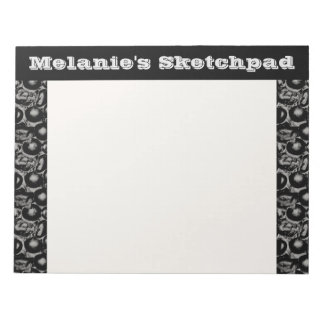 Black and White Glam Pebbled Sketch Pad