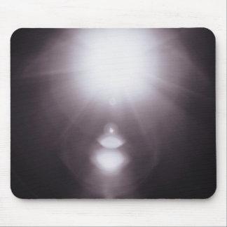 black and white glaring sunburst mouse pad