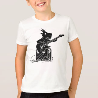 Black and white goat playing guitar T-Shirt