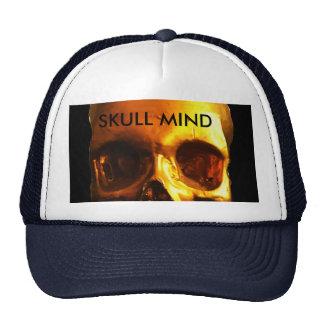 Black And White Gold Skull Mind Hat Cap
