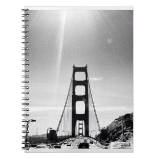 Black and White Golden Gate Bridge Notebook