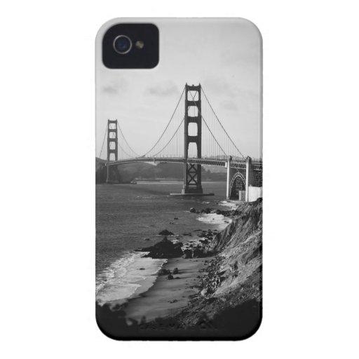 Black and White Golden Gate Bridge Photo iPhone 4 Cases