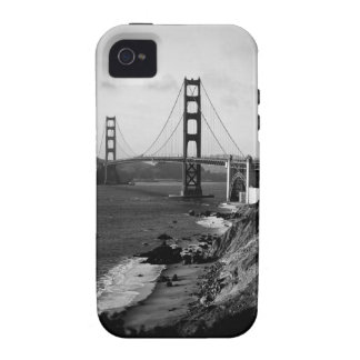 Black and White Golden Gate Bridge Photo iPhone 4 Cover