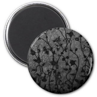 Black and White Gothic Antique Floral Magnet