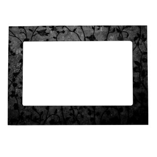 Black and White Gothic Antique Floral Magnetic Frame