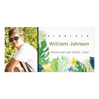 Black and White Graduation Announcement photo card