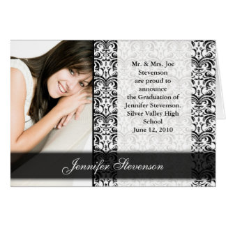 Black and White Graduation or Party Announcement