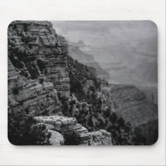 Black and White Grand Canyon Mouse Pad