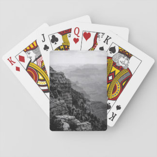 Black and White Grand Canyon Playing Cards