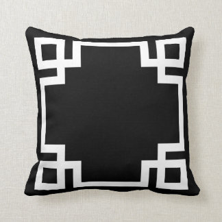 Black and White Greek Key Cushion